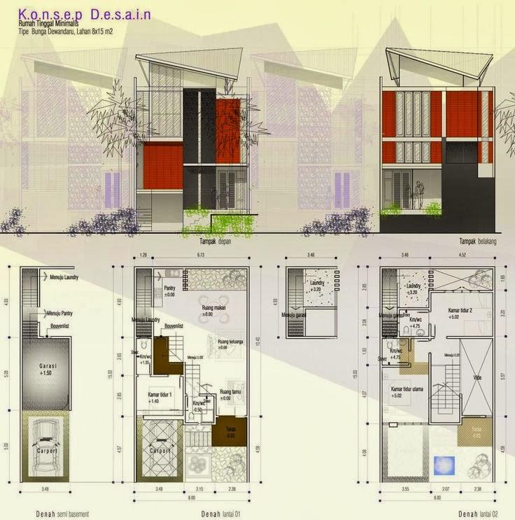 gambar dan denah rumah minimalis modern konsep desain rumah