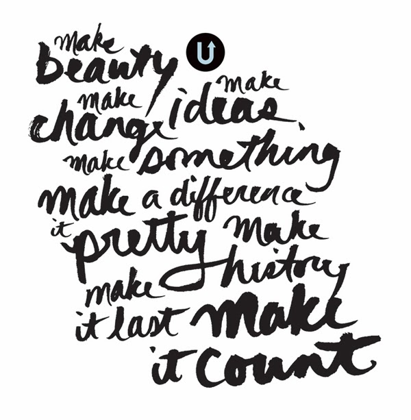 Happiness is... the UPPERCASE Creative Manifesto for 2014 maker's inspiration