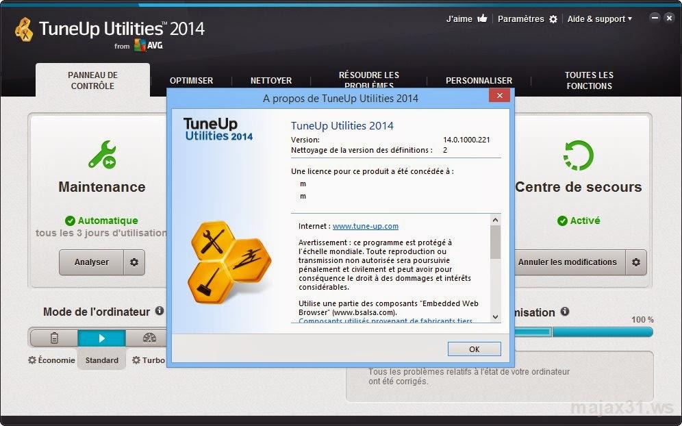tuneup utilities 2014 14 0 1000 296 inclus serial