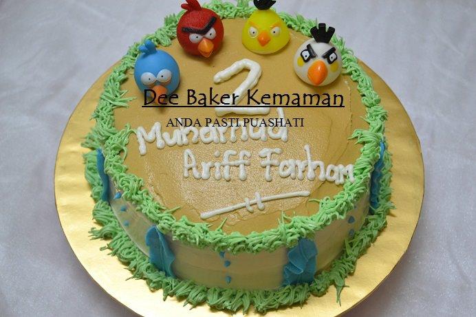 Kek Buttercream Angry Bird