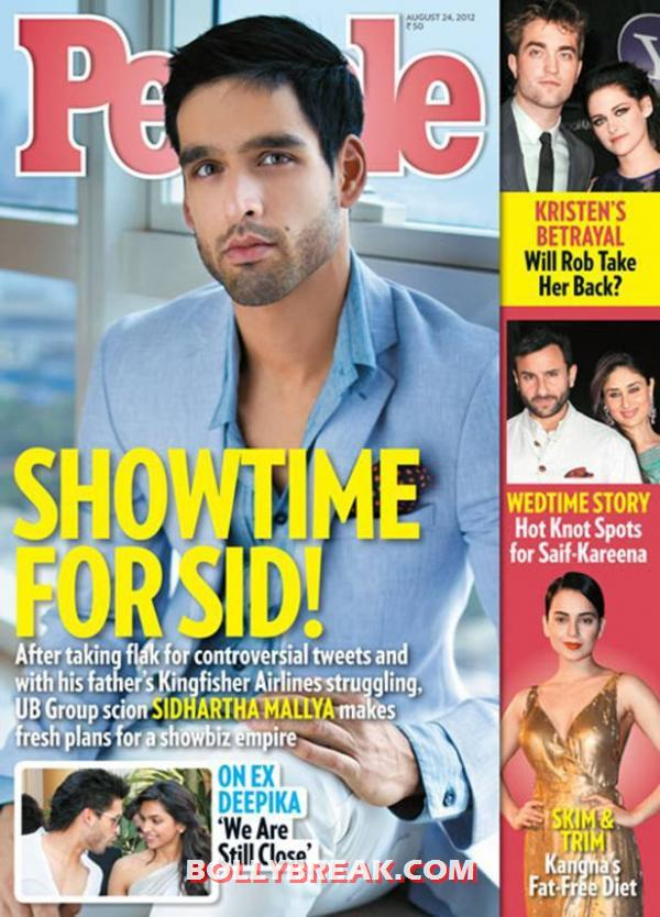 Sid Mallya People Magazine Scan -  Sid Mallya's HQ scans from People magazine India – August 2012