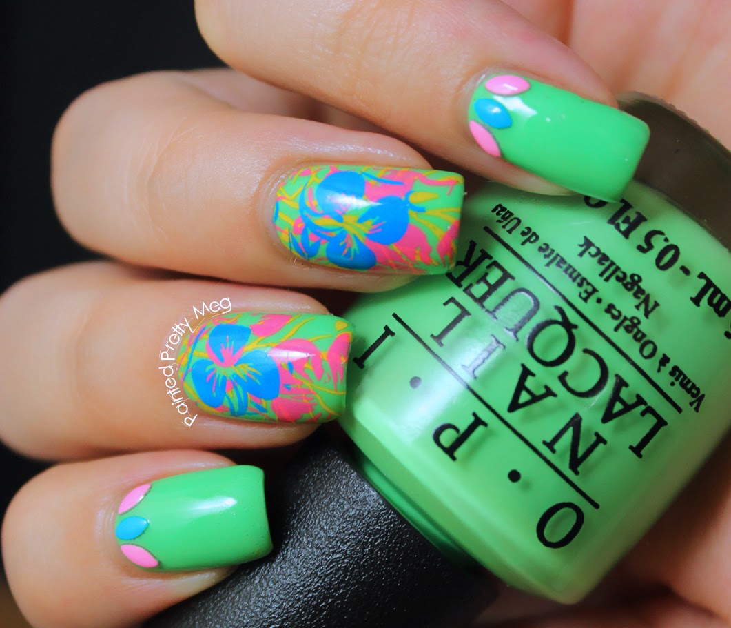 OPI-You-Are-So-Outta-Lime-Pueen-Nail-Stamping-Mundo-De-Unas