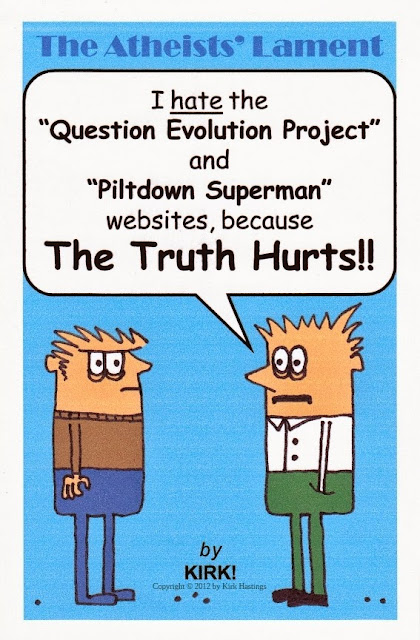 Kirk Hastings, The Question Evolution Project, Piltdown Superman