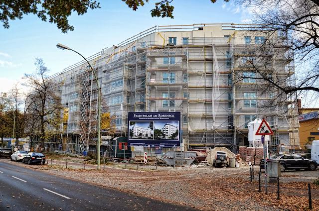 Baustelle Stadtpalais am Roseneck, Marienbader Straße / Hohenzollerndamm, 14199 Berlin, 18.10.2013