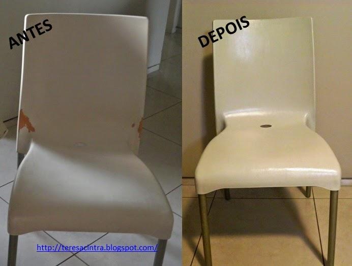 antes e depois; RECICLAGEM DE CADEIRAS; REFORMA DE CADEIRAS
