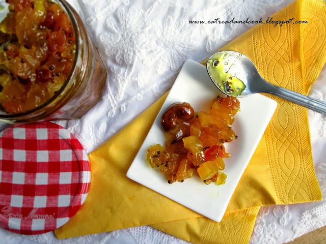 How to cook bengali pineapple chutney recipe