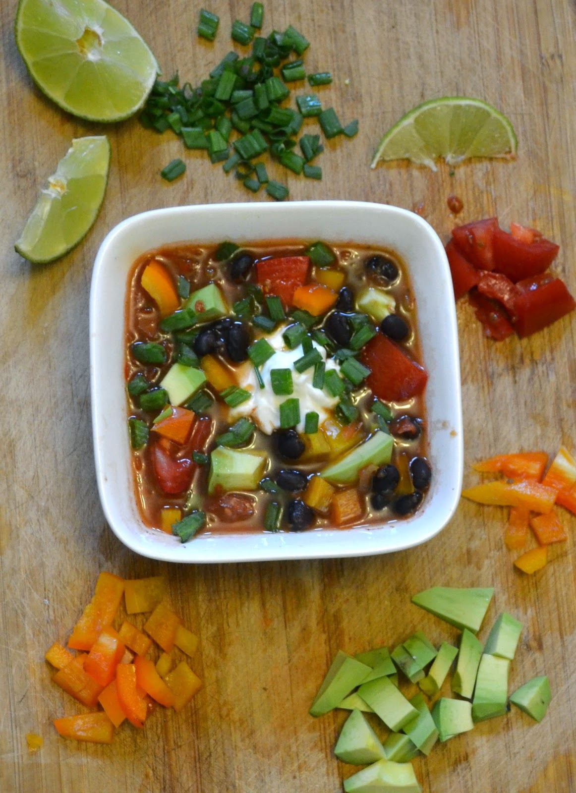 Easy Fresh Mexican Soup- dinner ready in 30 minutes or less!