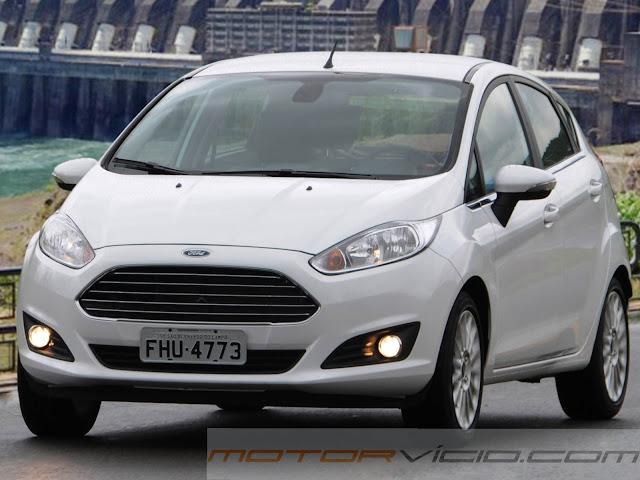 carro New Fiesta Hatch 2014 Branco