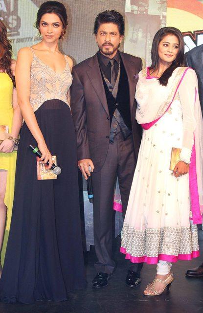 Shahrukh Deepika Priyamani chennai express music launch