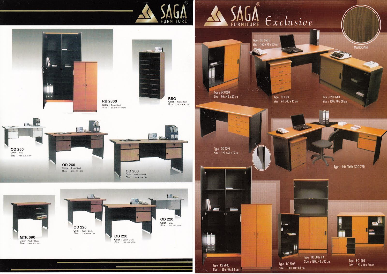 Saga Office Furniture Talenta Online Shop