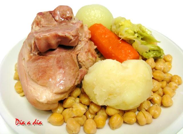 D a a d a codillo con garbanzos y verduras - Judias verdes en olla express ...