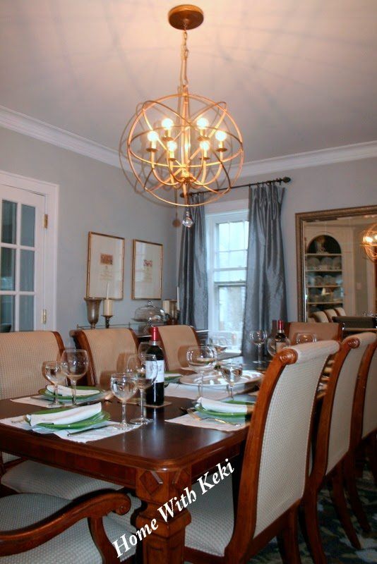 Dining room chandelier update home with keki interior for Ballard designs dining room
