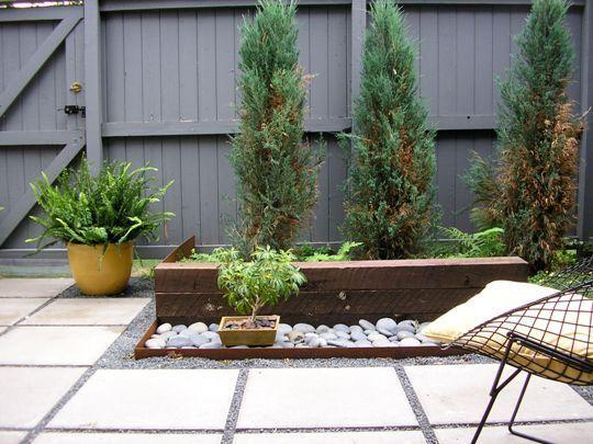 Decoracion de patios peque os jardines patios porches - Decoracion para terrazas ...