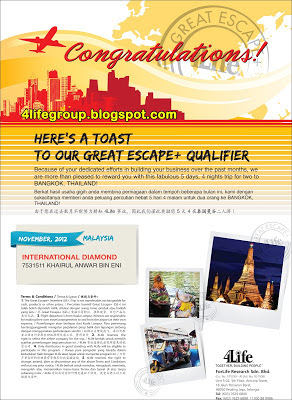 The Great Escape+ Winners November 2012