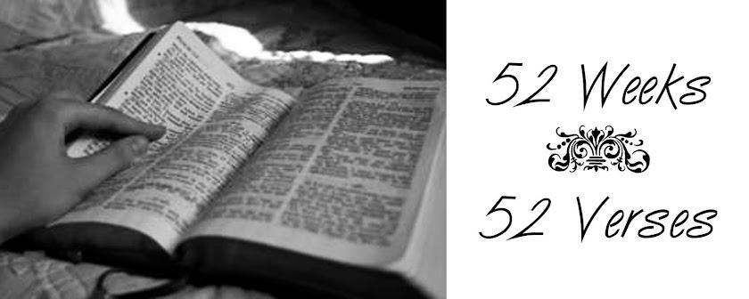52 Weeks | 52 Verses