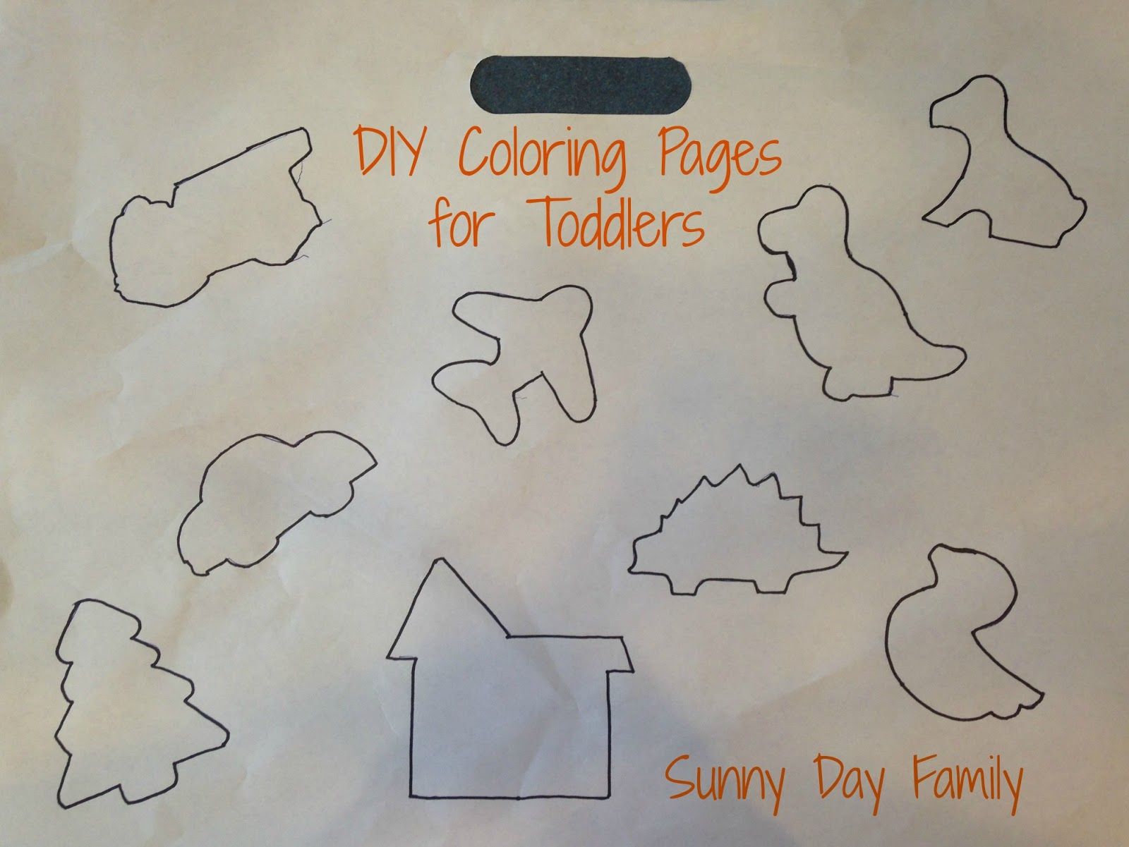 Easy DIY Coloring Pages for Toddlers