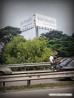 Site Selection, Straits Orthopaedics Billboard, ABio Orthopaedics Billboard, Penang Bridge