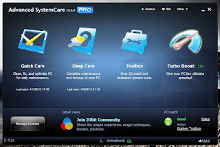 asc menu Advanced System Care Pro v5.1 নিন কিসহ