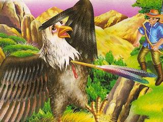 El Aguila y la Flecha fábula para niños, fábula con moraleja de Esopo