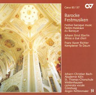 Barocke Festmusiken, Eberlin: Missa A 2 Chori, Richter: Te Deum