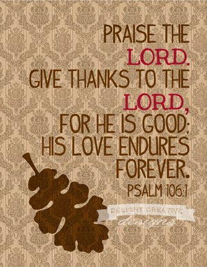 verse in bible about being thankful