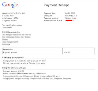 Akhirnya Gajian Google Adsense Aku Berikan Orang Tua
