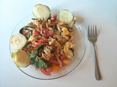 chicken veggie scramble
