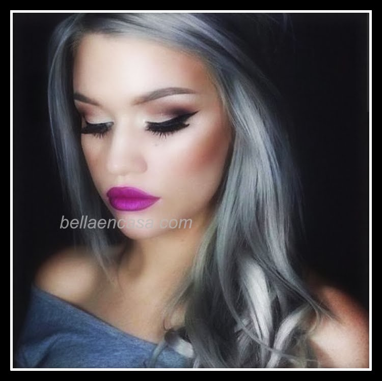 Fotografías de cabello gris plateado