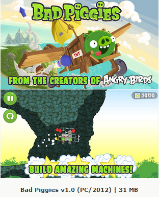 Bad Piggies 1.0 (PC/2012) Free Download Crack