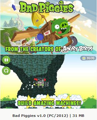 Bad Piggies 1.0 (PC/2012) Free Download Crack