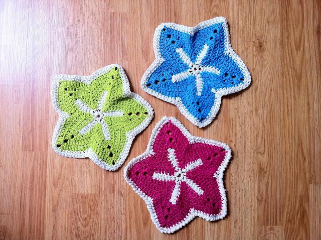 Crochet Starfish Washcloth The Way I Crochet
