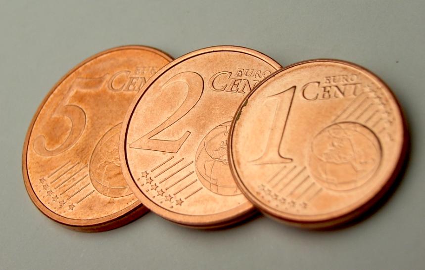 Bilder Bibliothek Bilder 1 Cent 2 Cent Und 5 Cent Euro Münzen