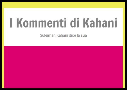 I 'Kommenti' di Kahani