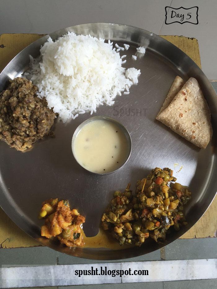 Dal chawal roti sabji