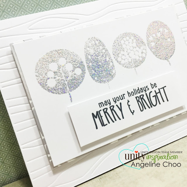 ScrappyScrappy: Foil Stamp emboss Christmas card #scrappyscrappy #unitystampco #stamp #card #foil #christmas