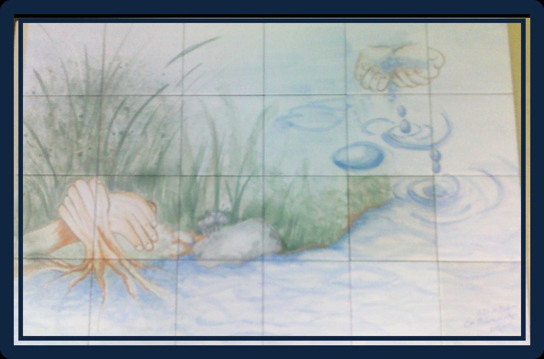 Como pintar baldosas de bao good good como pintar azulejo - Como pintar azulejos a mano ...