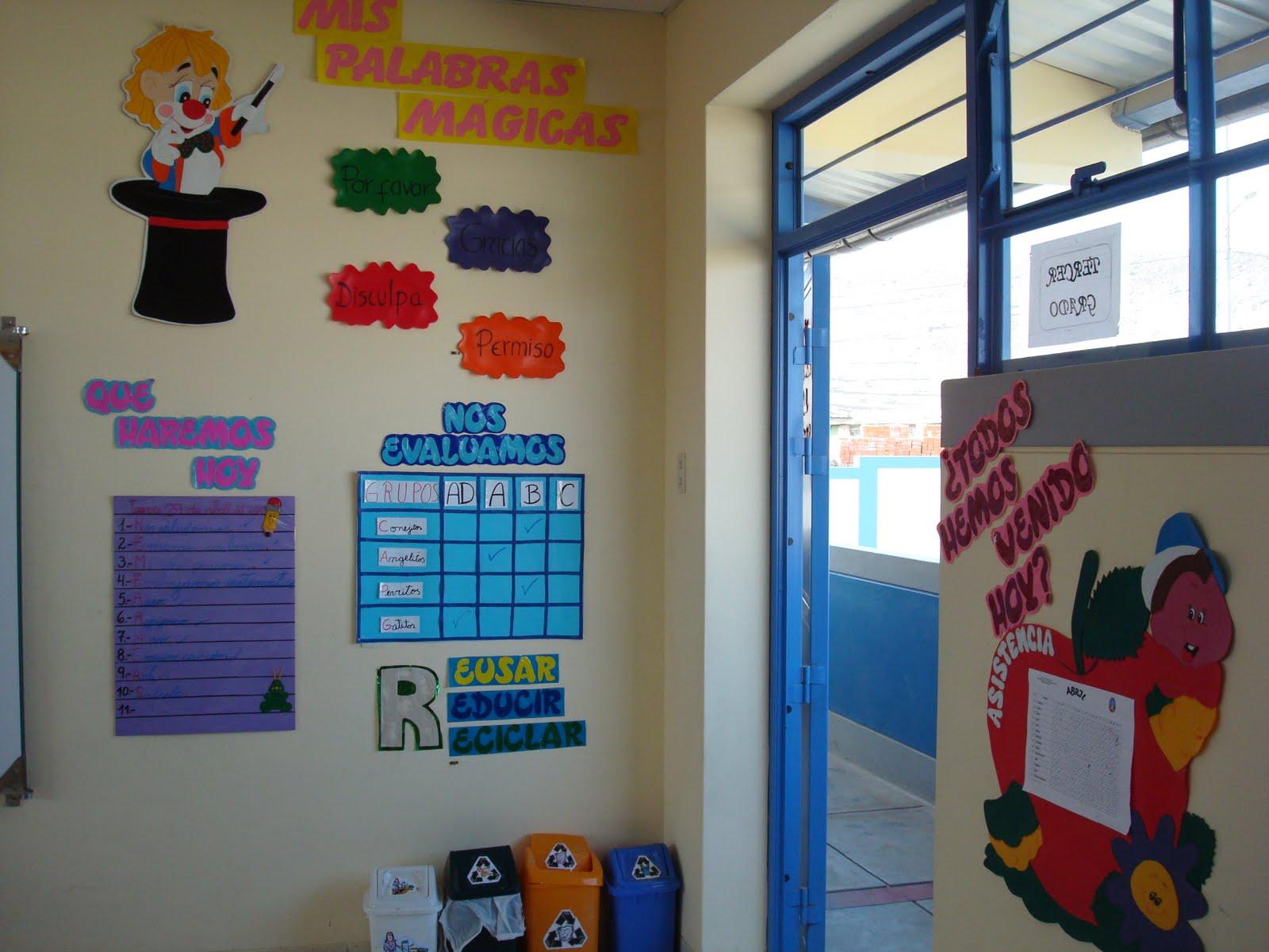 Decoracion salon de clases primaria for Ideas puertas salon