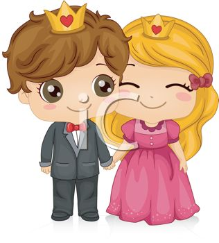 Cartoon Prince And Princess