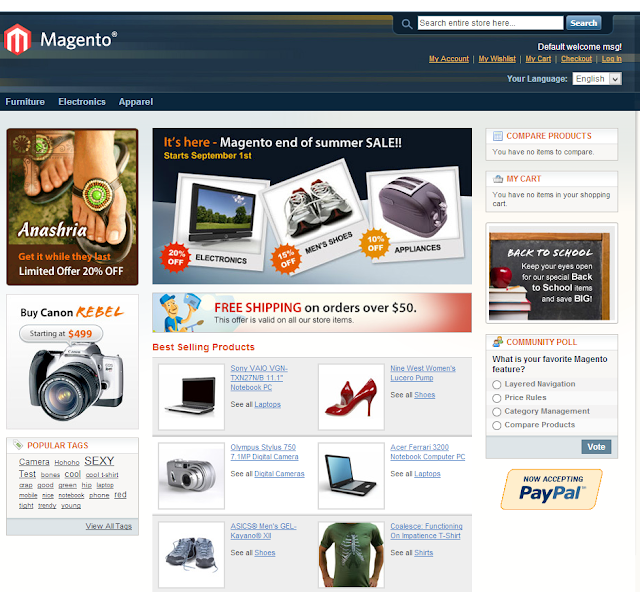 Create Online Stores Using Magento(Install guide)-frontend