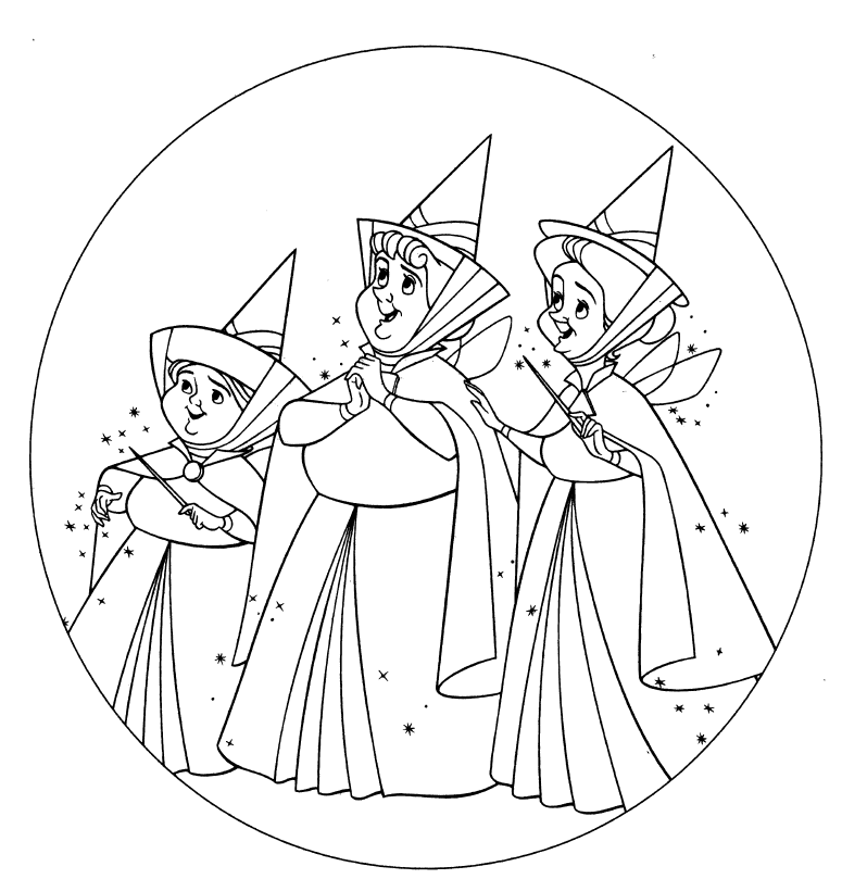 Fun learn free worksheets for kid disney princess for Free sleeping beauty coloring pages