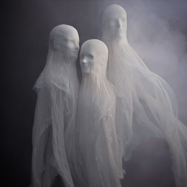 just looking at these spirit ghosts are creepy follow the easy tutorial at martha stewart and you can spook everyone who passes by your yard