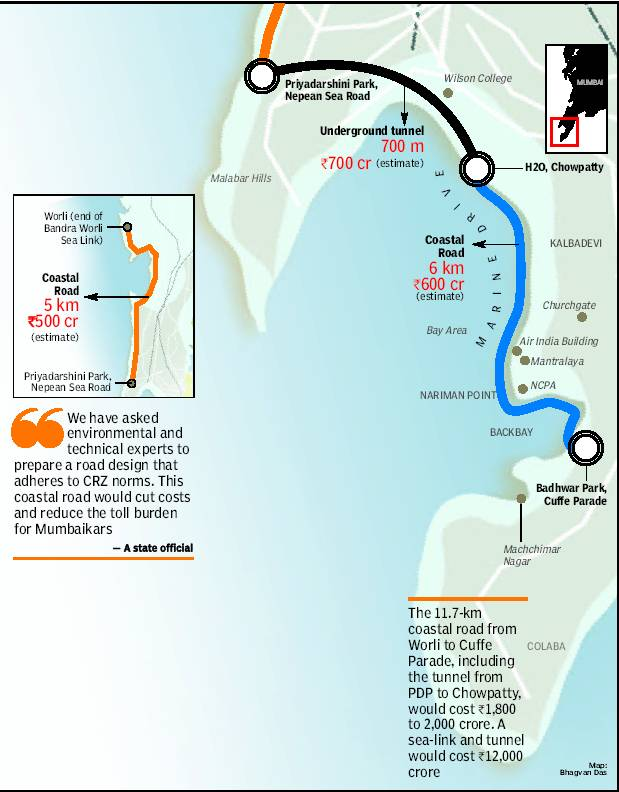 how to go marine drive by train from thane