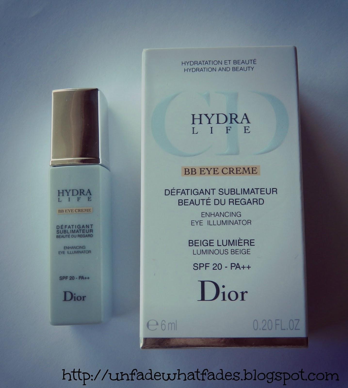 unfade what fades dior hydra life bb eye creme in beige lumiere 01 review. Black Bedroom Furniture Sets. Home Design Ideas