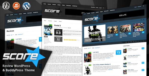 Image for Score – Review WP & BuddyPress Theme by ThemeForest