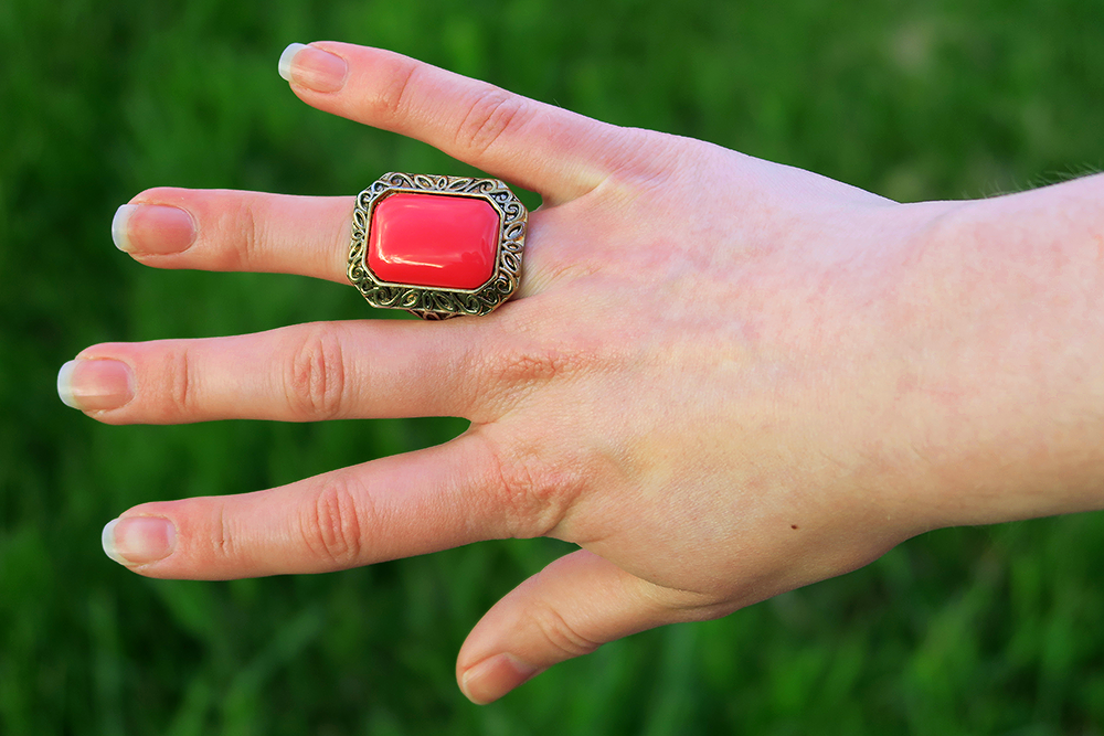New Look Coral Ring, Leeds Fashion Blogger