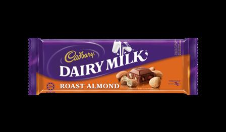 Coklat Susu dengan Buah Badam - Cadbury Dairy Milk Roast Almond diharamkan