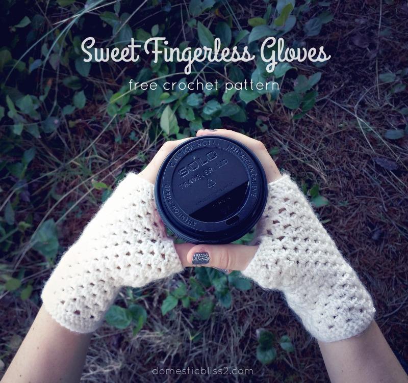 Free Crochet Pattern For Chunky Fingerless Gloves : Domestic Bliss Squared: delicate crochet fingerless gloves ...