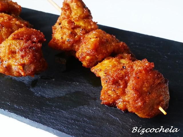 Pinchitos de cerdo for Cocinar patas de cerdo