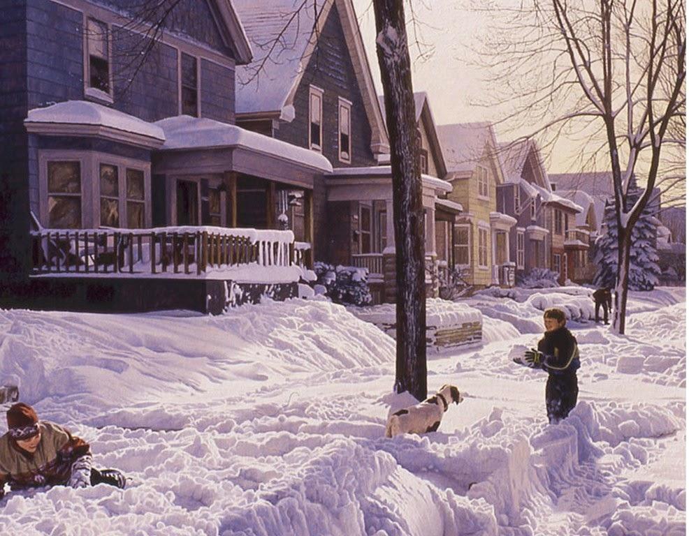 niños-en-paisajes-nevando