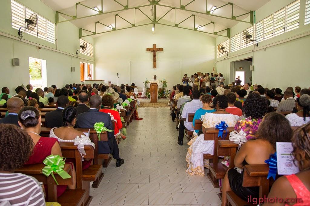 plan large dans l'église